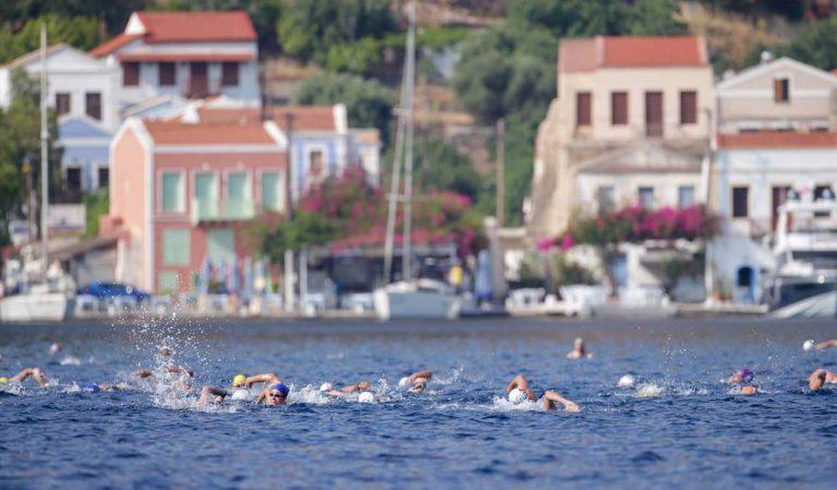 12 ülkeden 180 Sporcu Yunanistan'dan Türkiye'ye Barış İçin Kulaç Attı